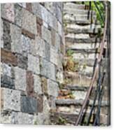 Curved Stone Staircase 235 Canvas Print