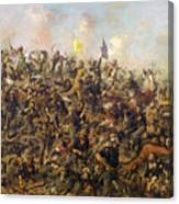 Custer's Last Stand From The Battle Of Little Bighorn Canvas Print