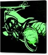 Custom Harley Davidson Teal Canvas Print