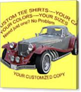 Custom Tee Shirts Canvas Print