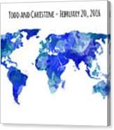 Custom World Map Canvas Print