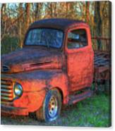 Customized Rust 1949 Ford Pickup Truck Canvas Print