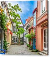 Cute And Colorful European Houses Canvas Print