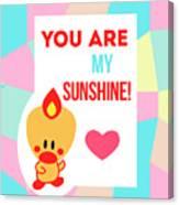 Cute Art - Sweet Angel Bird Pastel Colorblock You Are My Sunshine Wall Art Print Canvas Print
