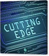 Cutting Edge Concept. Canvas Print