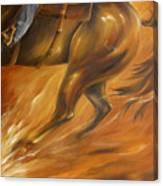 Cutting Horse Closeup 2 Canvas Print