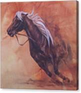 Cutting Horse I Canvas Print