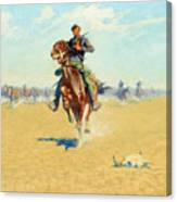 Cutting Out Pony Herds Canvas Print