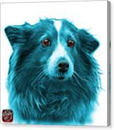 Cyan Shetland Sheepdog Dog Art 9973 - Wb Canvas Print