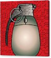 Cyber Warfare, Conceptual Artwork Canvas Print
