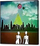 Cyborg Townies Canvas Print