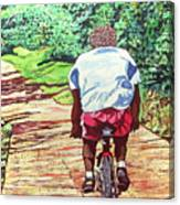 Cycling Home Canvas Print