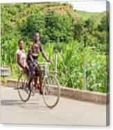 Cycling In Malawi Canvas Print