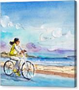 Cycling In Port De Pollenca In Majorca Canvas Print