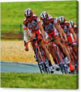 Cycling Practice Canvas Print