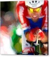 Cyclist Three Canvas Print