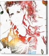 Cyndi Lauper Watercolor Canvas Print