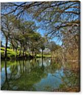 Cypress Bend Park Reflections Canvas Print