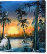 Cypress Swamp Canvas Print