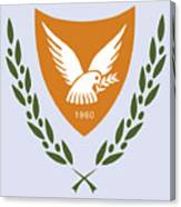 Cyprus Coat Of Arms Canvas Print