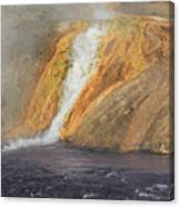 D09126 Outlet Of Midway Geyser Basin Canvas Print