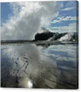 D09130-dc Cloud And Steam Reflect Canvas Print