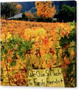 D8b6314 Autumn At Jack London Vinyard With Thanks To Firefighters Ca Canvas Print