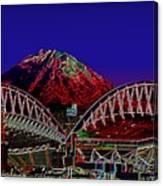Da Mountain And Stadia 3 Canvas Print