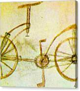 Da Vinci Inventions First Bicycle Sketch By Da Vinci Canvas Print