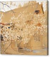 Dacha In Spring Canvas Print