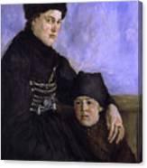 Dachau Woman And Child Canvas Print