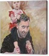 Daddy Ride Canvas Print