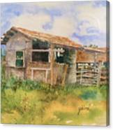 Dad's Saddle Shed Canvas Print