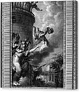 Daedalus And Perdix Canvas Print