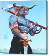 Daedalus Minotaur Of Crete Canvas Print