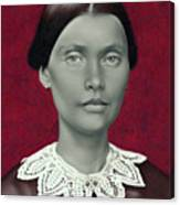 Daguerreotype Lady Detail Canvas Print