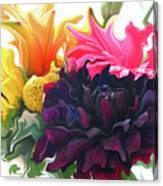 Dahlia Bouquet Canvas Print
