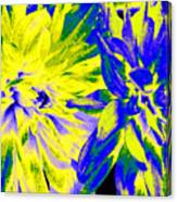 Dahlia Decor Canvas Print
