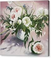 Dahlia Vase  Canvas Print