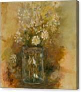 Daisies In A Jar Canvas Print