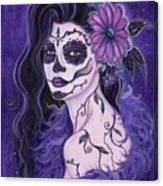 Daisy Day Of The Dead Canvas Print