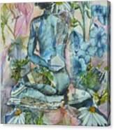 Daisy In The Garden Canvas Print