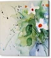 Daisy In The Vase Canvas Print