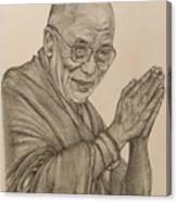 Dalai Lama Tenzin Gyatso Canvas Print