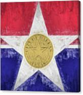 Dallas City Flag Canvas Print
