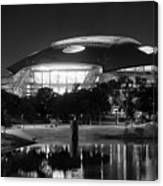 Dallas Cowboys Stadium Bw 032115 Canvas Print