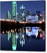 Dallas Dark Blue Night Canvas Print