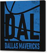 Dallas Mavericks City Poster Art Canvas Print