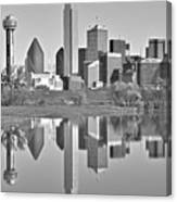 Dallas Monochrome Canvas Print