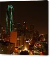 Dallas Night Moves Canvas Print